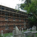 St. Peter's Church Scaffold During Construction